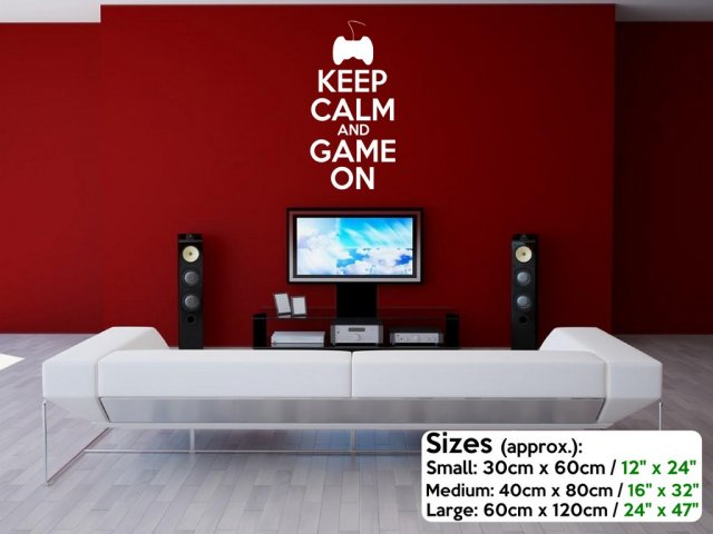 Keep Calm And Game On Teenager Gamer Kids Room