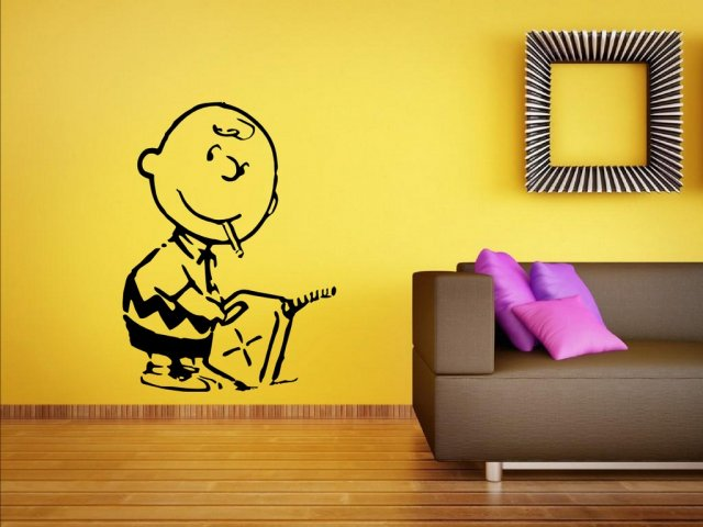Banksy - Charlie Brown Firestarter - Vinyl Wall Sticker | Wall ...