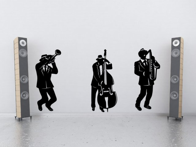 2 Way Light Switch >> Jazz Band Silhouette - Large Wall Stickers | Wall Stickers ...