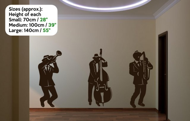 Jazz band silhouette large wall stickers