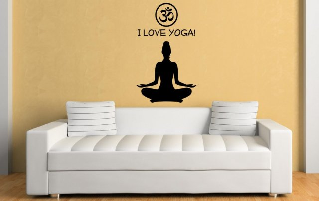 I love yoga! - Fantastic Vinyl Wall Decoration | Wall Stickers Store ...