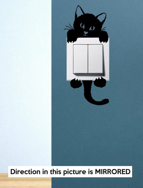 Designer Cute Kitty Cat Baby Pet Light Switch Sticker