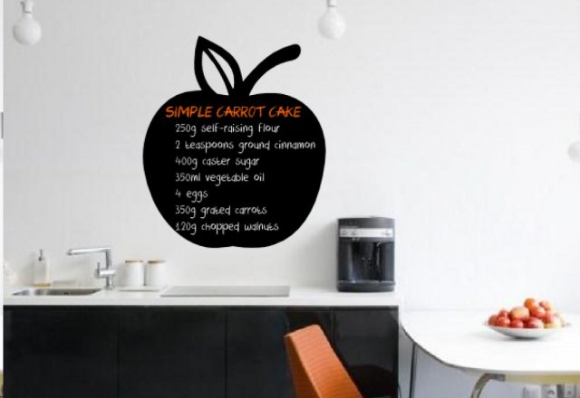 apple chalkboard kitchen / fridge sticker chalk / wall sticker