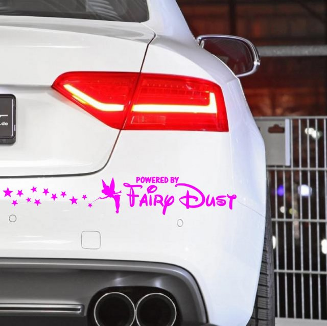 Tinkerbell powered by fairydust version 2 funny car sticker