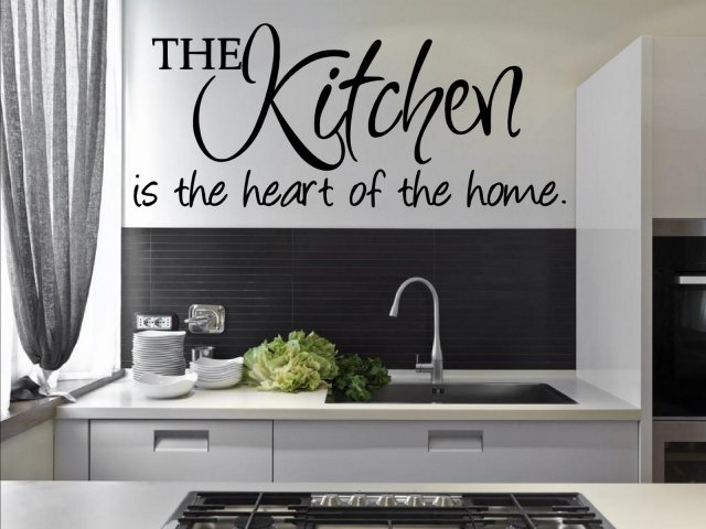The Kitchen Is The Heart Of The Home Amazing Kitchen Wall Sticker Wall Stickers Store Uk