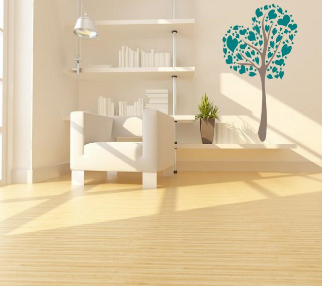 Love / Heart Tree - Large Vinyl Wall Decoration | Wall Stickers ...