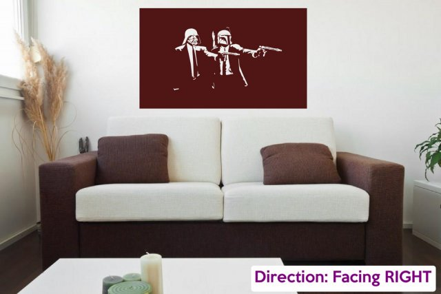 Star Wars Pulp Fiction   Iconic Wall Sticker Part 60
