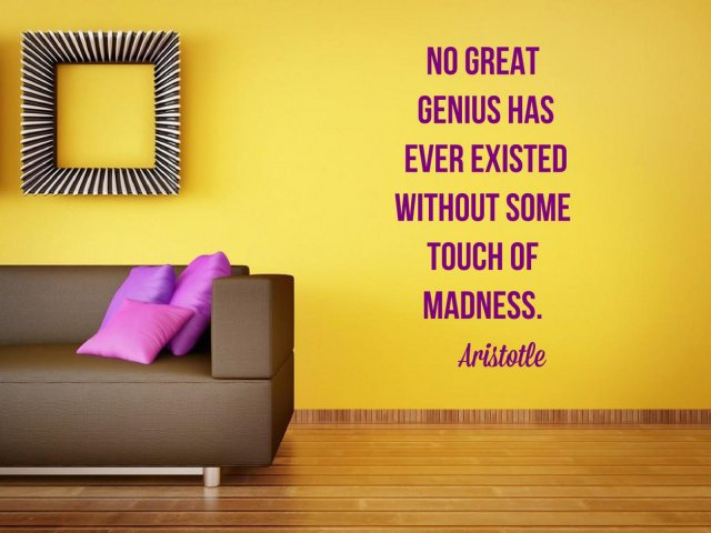 No Great Genius Has Ever Existed Without Some Touch Of