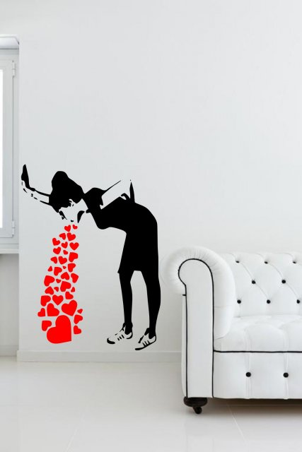 Banksy Love Sick Iconic Graffiti Wall Sticker Wall
