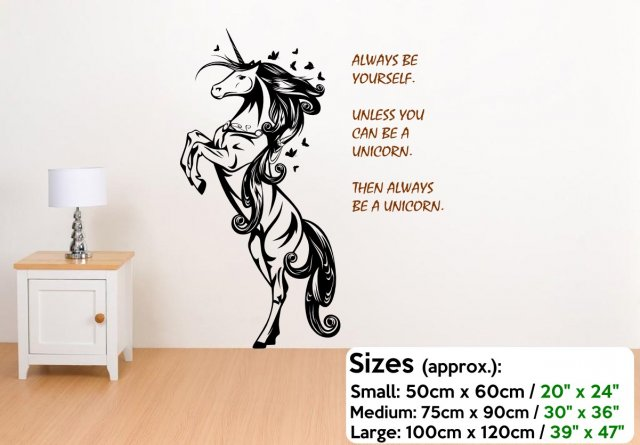 Fabulous unicorn always be yourself amazing wall decoration