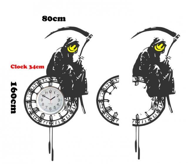 banksy - large grim reaper on the clock