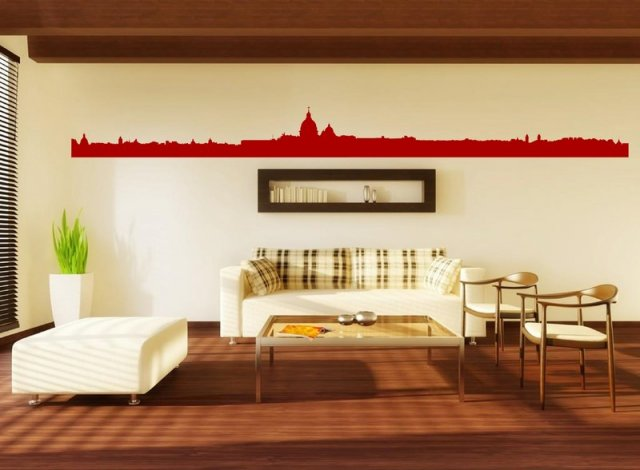 Rome landscape panorama huge vinyl wall decal wall for Wall stickers roma