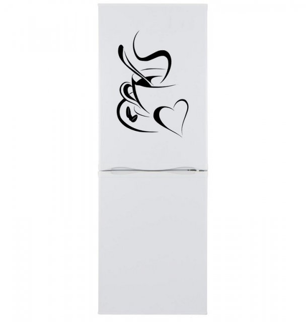 Lovely coffee refrigerator vinyl sticker waterproof decal