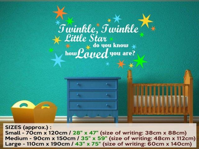 U0027Twinkle, Twinkle Little Star...u0027 Nursery Kids Room Large Wall Decal. U0027 Part 95