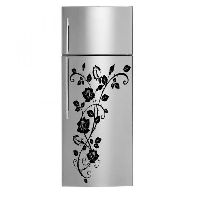 luxury rose flowers fridge waterproof vinyl sticker. Black Bedroom Furniture Sets. Home Design Ideas