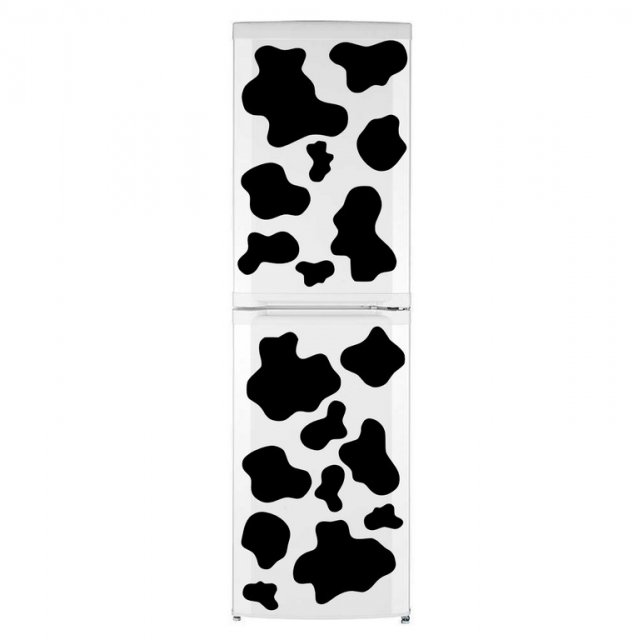 Cow Patches Fridge Kitchen Stickers Print Waterproof Refrigerator Wall Decals UK