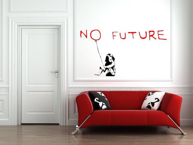 Banksy graffitti 2016 no future amazing wall stickers decals