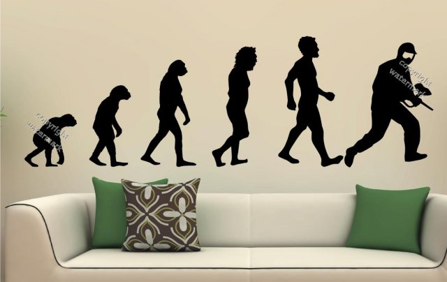 Famous evolution series paintball asg evolution wall sticker decor