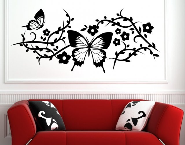 amazing butterfly large vinyl sticker wall stickers. Black Bedroom Furniture Sets. Home Design Ideas