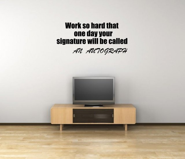 jc design 'work so hard that one day' motivational quote wall