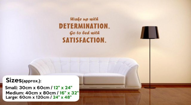 Jc Design Wake Up With Determination Large Quote Wall