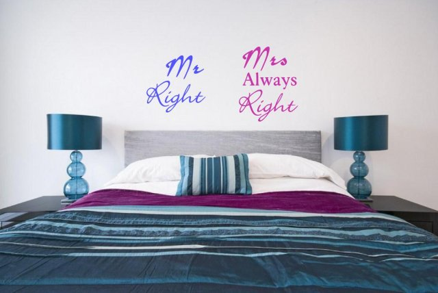 Jc Design Mr Right And Mrs Always Right Funny Wall