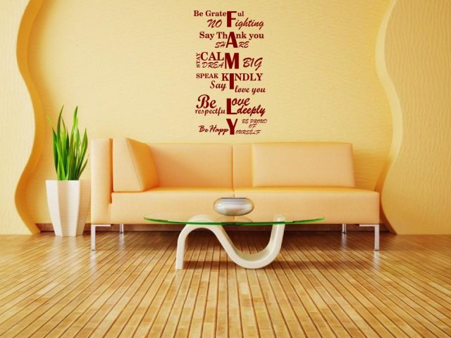 JC Design FAMILY Amazing Huge Quotes Wall Sticker Wall