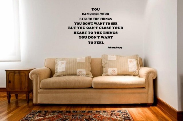 jc design you can close your eyes johnny depp quote wall