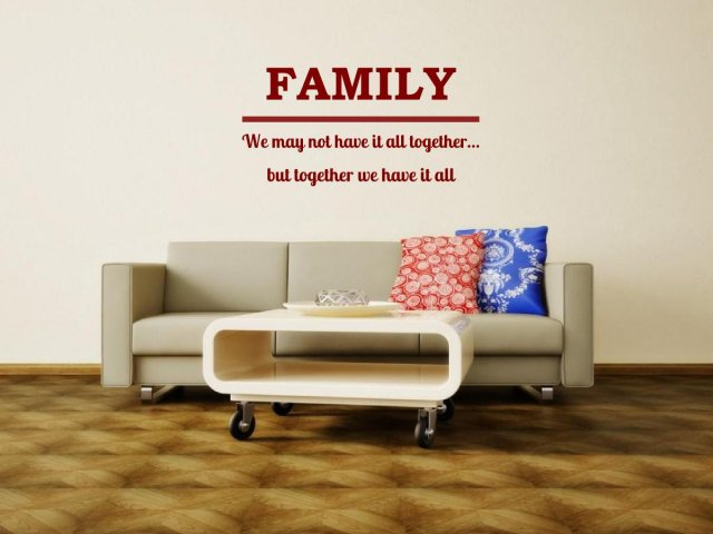 Jc Design Family We May Not Have It All Together Large Vinyl
