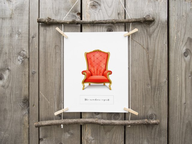 The Armchair Expert Funny Scandinavian Style Poster Hygge