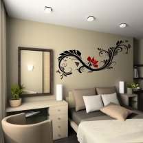 Stylish Floral Wall Ornament - Large Wall Sticker