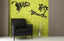 Floral Duet Giant Art Stickers