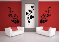 Floral Trio Vinyl Wall Stickers