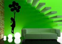 Banksy Style Balloon Girl 2 Art Stickers