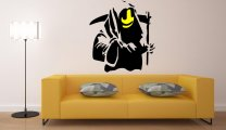 Banksy Style Grin Reaper Art Decoration
