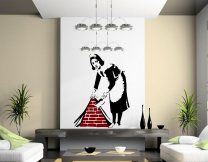 Banksy Style Maid in London Wall Stickers