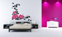 Wonderful Corner Flowers Giant Wall Sticker