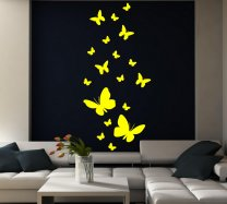 18 Butterflies In Various Sizes - Vinyl Wall Stickers