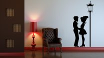 Parisian Lovers - Romantic Wall Decoration
