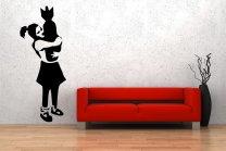 Banksy Style Bomb Hugger Girl Wall Decor