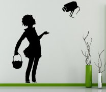 Banksy Style Camera Girl Wall Stickers