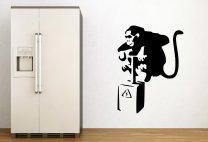 Banksy Style Monkey Detonator Wall Decoration