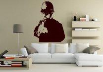 Banksy Style Rude Copper Vinyl Decoration