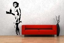 Banksy Style 'Caveman' Large Wall Pattern