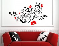 Colourful Flowers Vinyl Wall Decoration