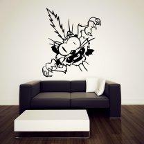 Thrilled Cartoon Cat - Kid's Room Wall Decor