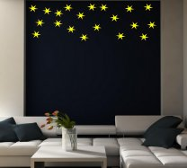 20 STARS Vinyl Wall / Car / Laptop Decor Art Sticker