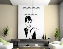 Audrey Hepburn Silhouettes Large Vinyl Wall Decoration