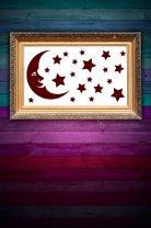 Moon And Stars - Kid's Room / Nursery / Bedroom Wall Stickers