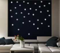 36 Snowflakes - Window / Wall Vinyl Stickers